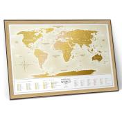 Карта travel map gold world ru